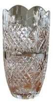 "Brilliant Waterford Ireland Crystal Star Design Scallop 10"" Made in Irel... - $346.49"