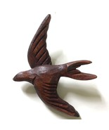 "Swallow Bird Brooch Pin 3.5"" Carved Wood Vtg Folk Art - $39.59"