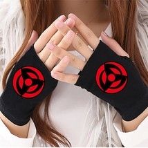 HOT Anime Naruto Sharingan Half Finger Cotton Knitting Gloves Accessories Finger - $37.50
