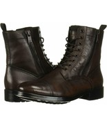 Mens Kenneth Cole Hugh Cap Toe Boot - Brown Leather [KMF8052TB 200] - $194.99