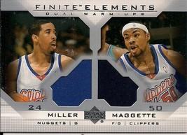 2003-04 Upper Deck Finite Elements Warmups #FE27 Andre Miller/Corey Magg... - $5.00