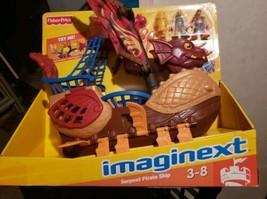 IMAGINEXT DRAGON WORLD 2010 SERPENT PIRATE SHIP SET - $44.00