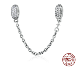 Fashion 925 Silver Sterling Bracelet European Charm Inspiration Chain Pe... - $28.36