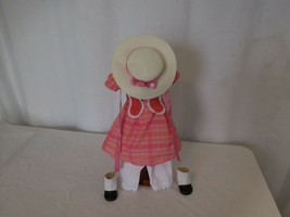 American Girl Doll Marie Grace Meet Outfit Dress Hat Shoes Under Retired - $43.58