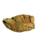 Vintage Spalding TFB-100 Catchers Mitt Glove Right Handed Top-Flite - $67.29