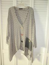 THOMSEN beige/light gray jacket/top one size woman - $18.69