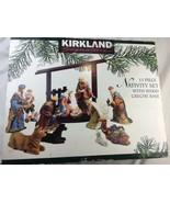 Kirkland 13 Piece Porcelain Nativity Set Used Complete - $93.49