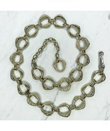 """Gold Tone Open Oval Textured Belly Body Chain Link Belt Size Large L 36""""... - $17.05"""