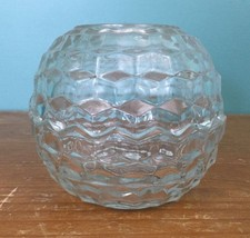 "2 Piece Cut Glass Ball Votive Candle Holder - 5 1/2"" Wide, 5"" Tall, Made... - $18.97"
