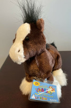 NEW Lil Kinz Clydesdale Horse Brand Sealed Tag Webkinz HS139 - $18.69