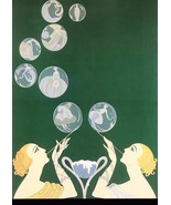 The Bubbles unique retro Christmas gift 5 x 7 new  print art deco artist ERTE' - $1.93