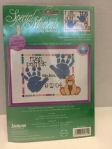 Janlynn Special Moments Baby Handprint Birth Cross Stitch Kit SGP604 W Frame - $6.79
