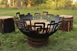 "Cedar Creek Sculptures - Prevailing Links Fire Pit - Unique, Contemporary- 37""  - $1,345.00+"