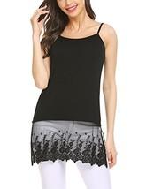 Grabsa Women's Lace Extender Camisole Tunic Tank Round Neck Slip Spaghet... - $22.93