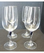 Four Vintage Courvoisier Cognac Crystal Snifter Glass Cobalt Blue Teardr... - $47.49