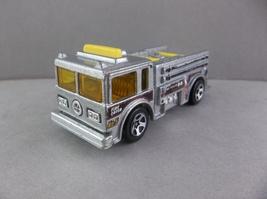 Hot Wheels 1976 Silver Yellow Emergency Fire Truck Diecast - $2.50