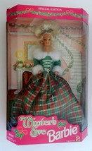 Winter's Eve Barbie Doll Special Edition 1994 Red & Green Tartan Plaid W... - $16.71