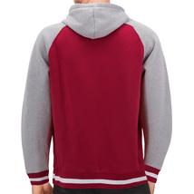 Men's Fleece Varsity Sweatshirt Letterman Sports Raglan Button Up Hoodie Jacket image 6