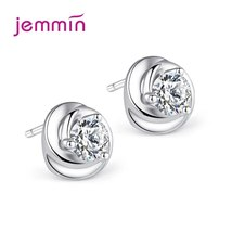 New Brand Woman/Lady/Girls Fashion 925 Sterling Silver Peony Stud Earrin... - $7.67