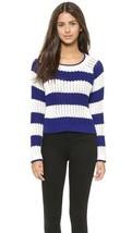 Elizabeth and James High Slit Stripe Sweater $295 Mult Sz - $172.45 CAD