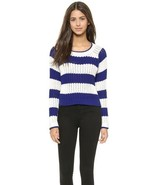 Elizabeth and James High Slit Stripe Sweater $295 Mult Sz - $129.99