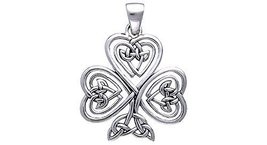 Jewelry Trends Sterling Silver Shamrock Of Faith Pendant - $40.99