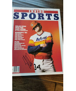 1980 INSIDE SPORTS SIGNED AUTO 3 TIMES BY NOLAN RYAN ASTROS METS ANGELS ... - $199.99