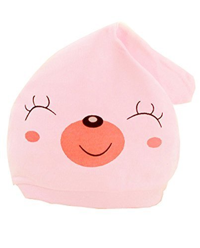Summer Baby Hats/Caps Infant Dome Cotton Hats Smiling Face [F]