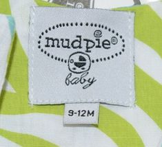 MudPie Giraffe Shortall Turquoise Lime Green Jumper 9 to 12 Months image 9