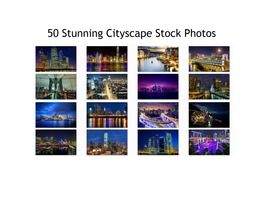Cityscape Stock Photos 50 High Quality Images 300 DPI Print or Web - $50.00