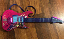Barbie Rock Your Heart Out Battery Operated Guitar Pink with Purple Works! 2015 - $29.70