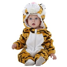IDGIRL baby girls and boys' Flannel Cotton rompers Tiger-100CM Tiger 19-... - $17.23