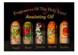 Set of 5 Blessed Anointing Oil Myrrh Nard Rose Jasmine Amber Jerusalem H... - $16.29