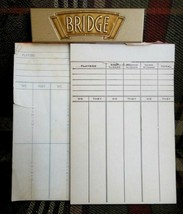 vintage BRIDGE SCORE PAD playing cards CLIPBOARD - $34.95
