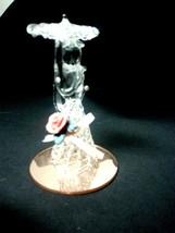 Vintage Spun Glass Lady With Umbrella Figurine  Dura-Best Gold Glass - $14.70