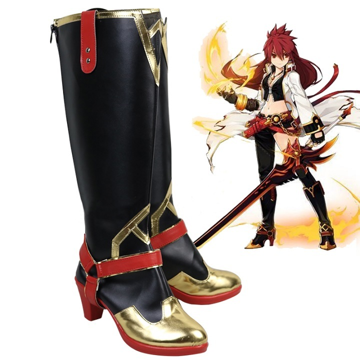 Elsword elesis blazing heart boots cosplay for sale