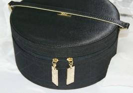 Christian DIOR Black Round Parfum Perfume Zippered Bag Travel Case with ... - $65.79
