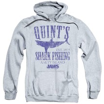 Jaws Movie Retro 70s Quints Shark Fishing Amity Island distressed hoodie UNI413 image 1