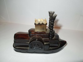 AVON Wild Country After Shave Steam Boat Vintage , 1/2 full, no box, #54  - $3.91