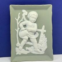 Andrea Sadek Japan jasperware naked putti cherub angel porcelain wall ha... - £18.46 GBP