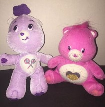 "Care Bears Plush Lot Of 2  Pink Purple Nanco 7"" & 10"" Sunshine Lollipops... - $1.99"