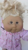 """Cabbage Patch Kids Girl Blond Yarn Hair Brown Eyes 2004 18"""" Doll CPK #16 - $22.99"""