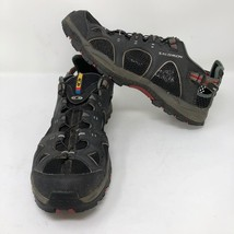 Salomon Mens Techamphibian Black Hiking Shoes Sz 10.5 Contragrip Trial W... - $37.86