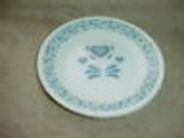 "CORELLE BLUE HEARTS 6.75"" BREAD / DESSERT PLATES x 3 NEW FREE USA SHIPPING - $18.69"