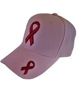 Breast Cancer Awareness Solid BCA Pink Ribbon Baseball Cap (Pink) - $12.95