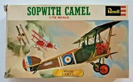 Rare Vintage Revell 1971 Sopwith Camel 1/72 Scale British Biplane - $29.99