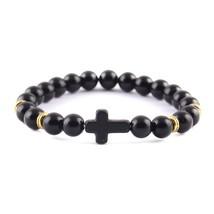 Trendy Jesus Cross Charm Bracelet for Men - $13.99