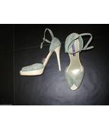 New Ralph Lauren Collection Womens Shoes 10.5 Heels Designer Sandals Blu... - $288.00