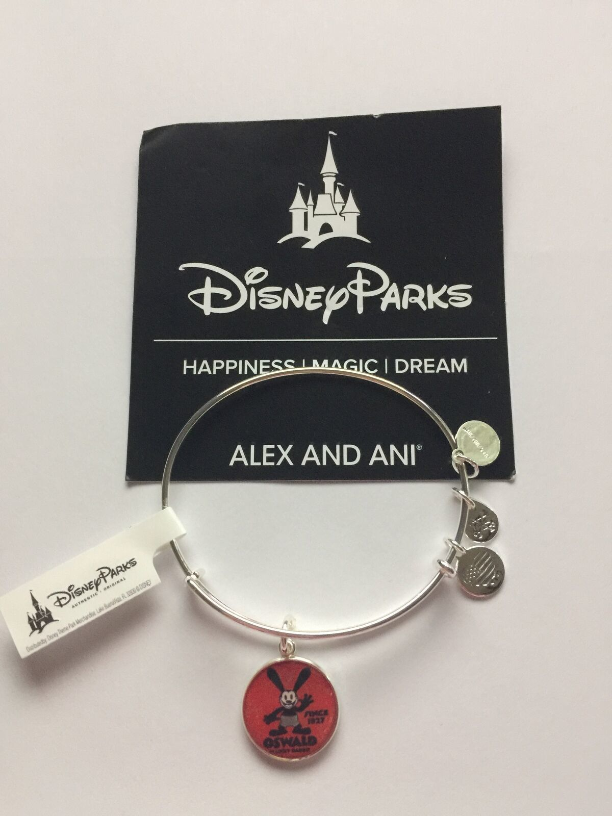 Disney Parks ALEX /& ANI Oswald The Lucky Rabbit 90 Years Silver Bracelet