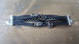 2005 Disney Leather Bracelet 6.25 inches - $11.87